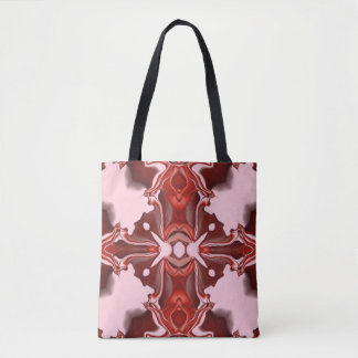 Süßigkeits-und Korinthe-rotes Kaleidoskop-Muster Tasche