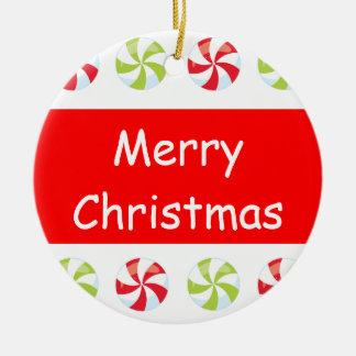 Süßigkeits-Weihnachten Rundes Keramik Ornament