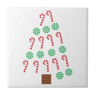 Süßigkeits-Weihnachtsbaum Kleine Quadratische Fliese