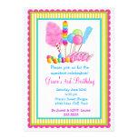 Süßigkeits-Zirkus-Einladungen
