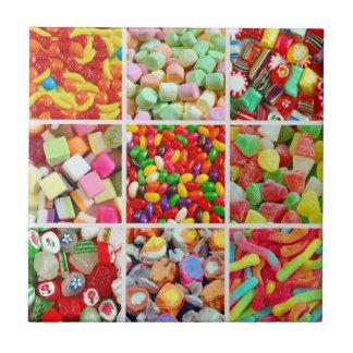 Süßigkeitscollagenfliese Kleine Quadratische Fliese