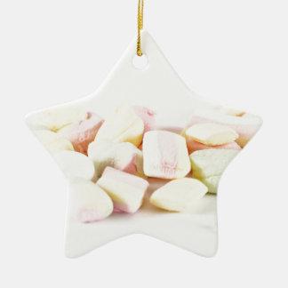 Süßigkeitseibische Keramik Stern-Ornament