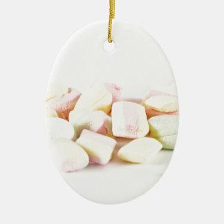Süßigkeitseibische Ovales Keramik Ornament