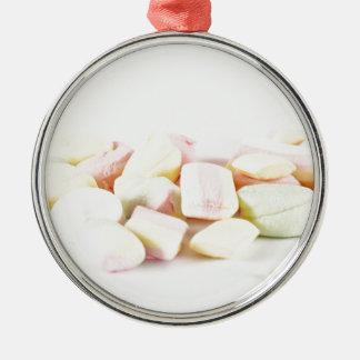 Süßigkeitseibische Rundes Silberfarbenes Ornament