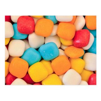 Süßigkeitshintergrund Postkarte