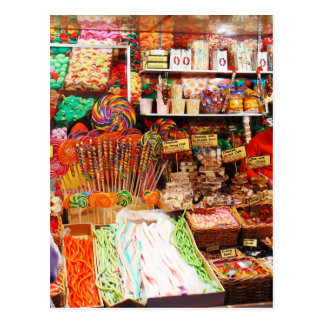 Süßigkeitsstall Postkarten