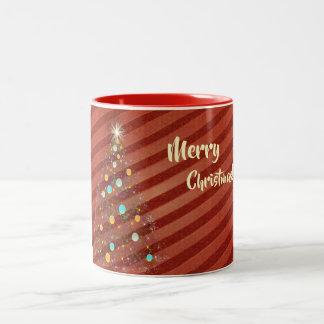 Süßigkeitsstreifen Weihnachtsbaum Zweifarbige Tasse
