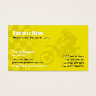 Suzuki gelbe Motocross-Visitenkarte Visitenkarten