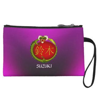 Suzuki-Monogramm-Drache Kleine Clutch