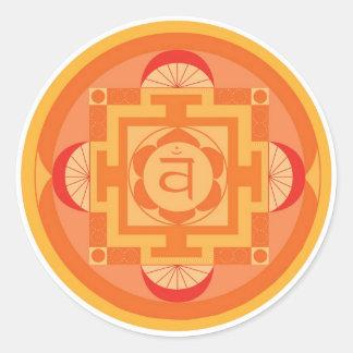 Svādhisthāna Chakra Mandala Runder Aufkleber