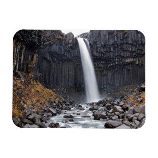 Svartifoss Wasserfall in rechteckigem Magneten Magnet