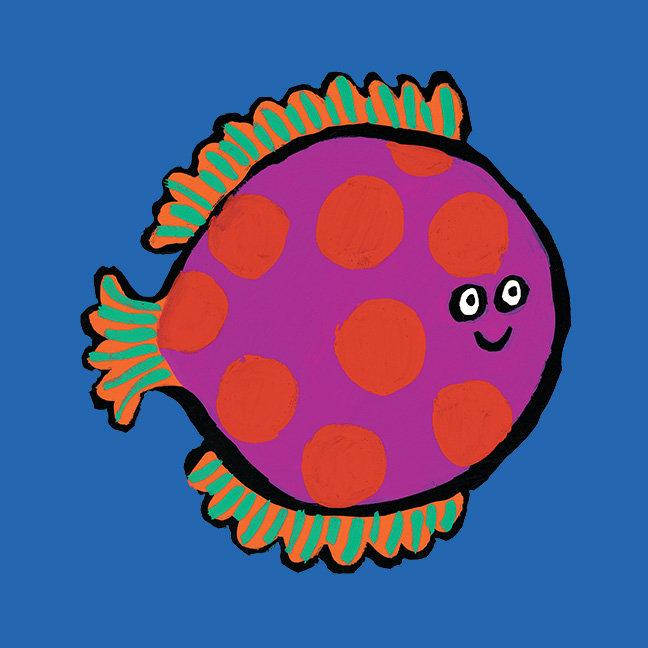 Pink and Orange Polka-Dot Fish