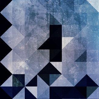 Geometric Patterns | Blue Triangles and Diamonds