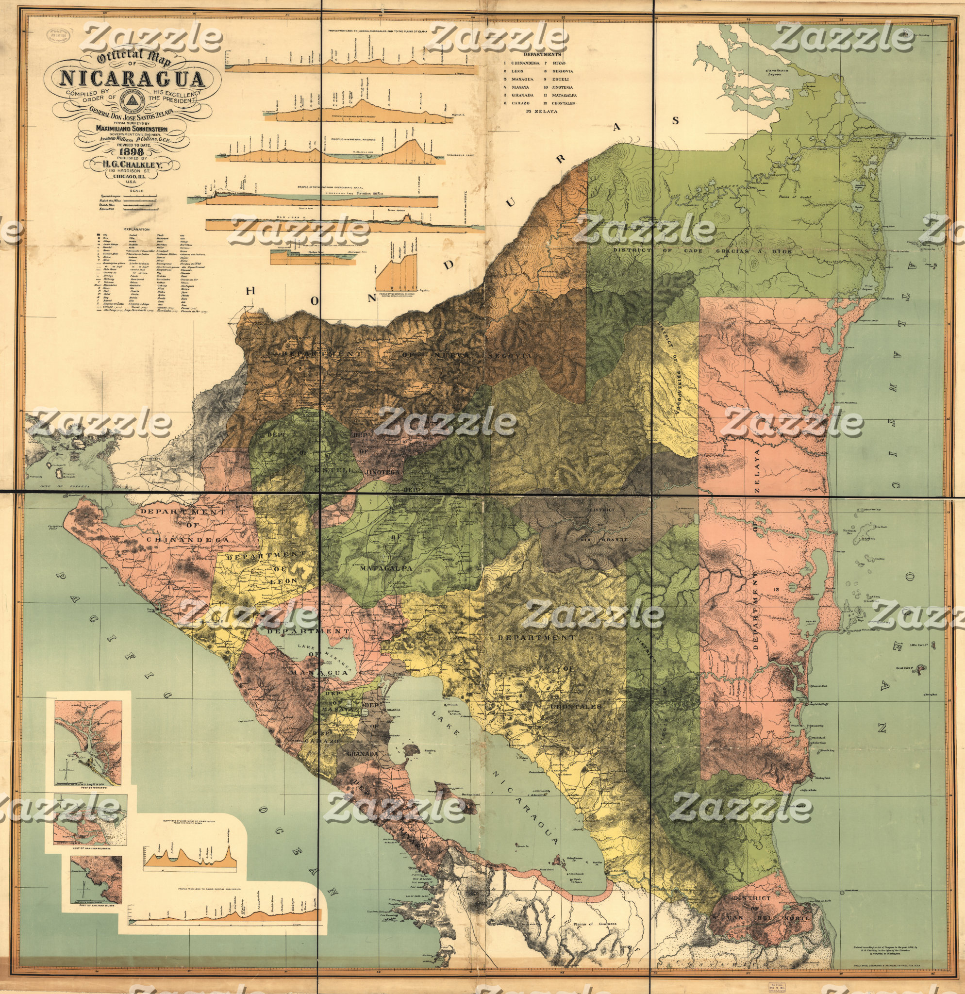 CENTRAL AMERICAN MAPS