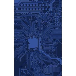 Blue Motherboard Pattern