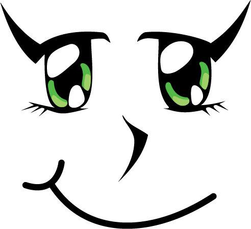 Smiling green eyes