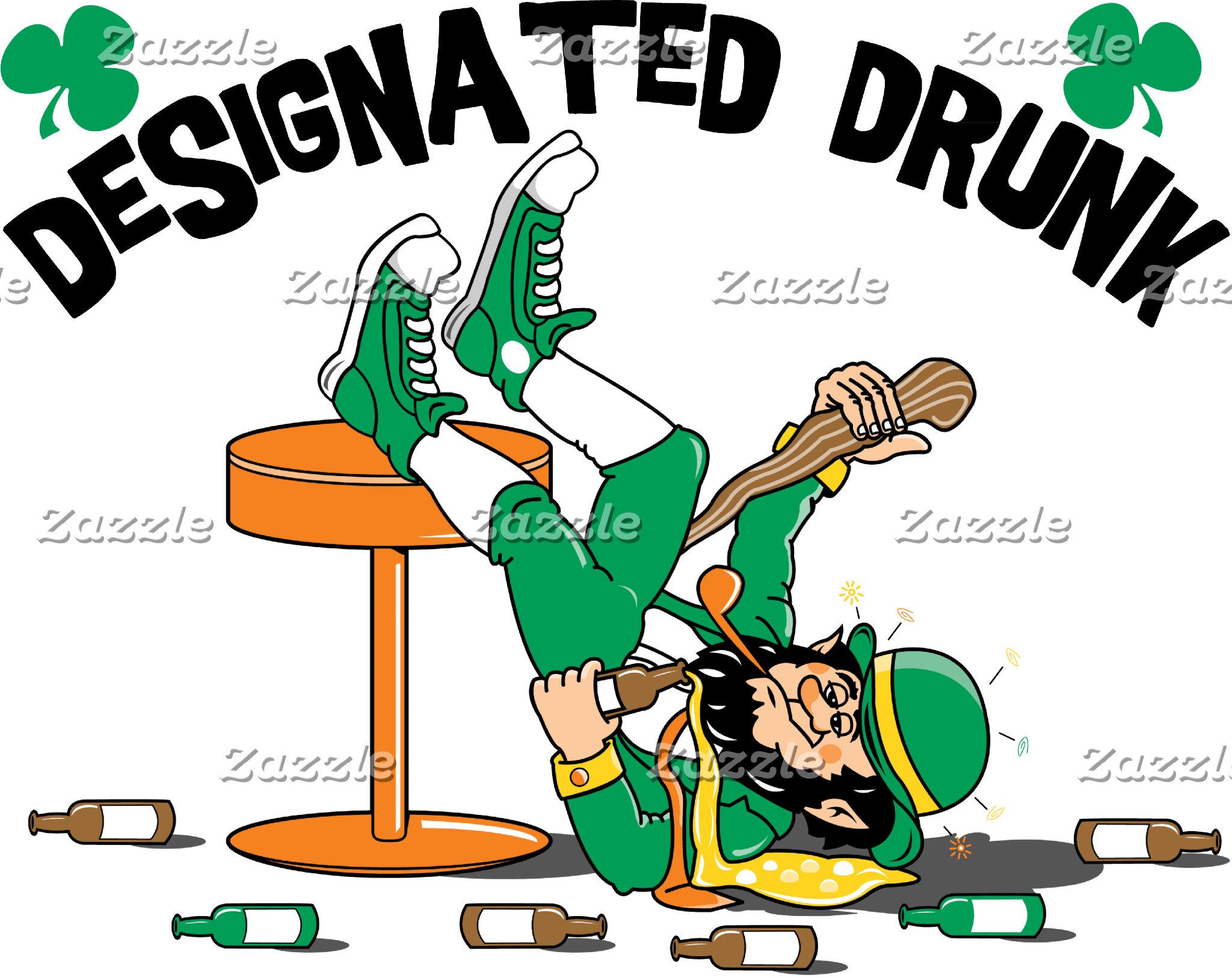 Irish I Were Drunk T-Shirt Designated Drunk