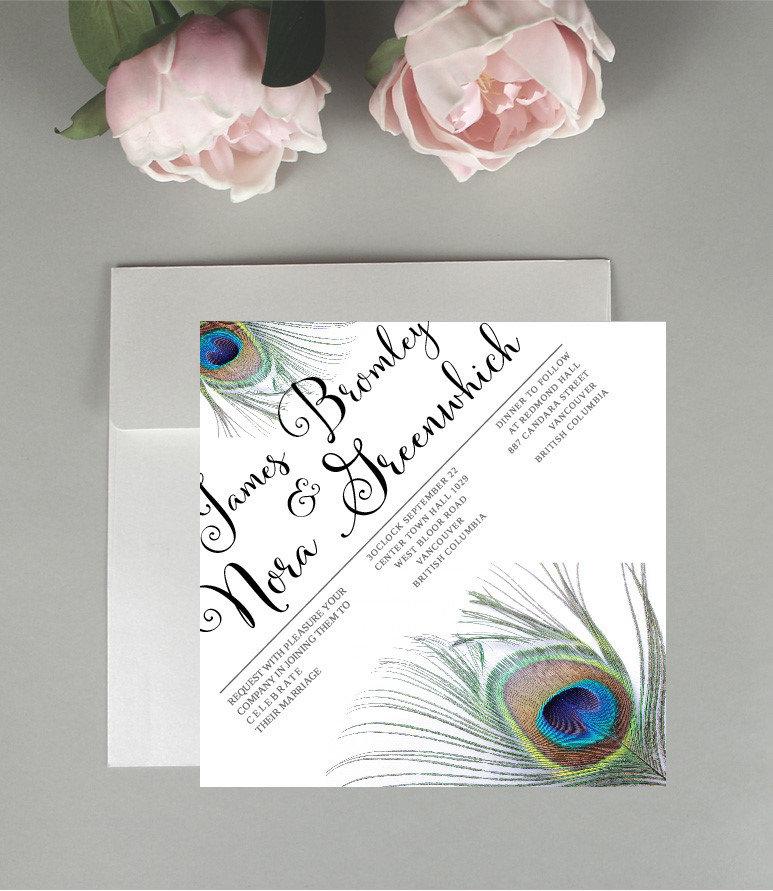 Peacock Wedding Stationary