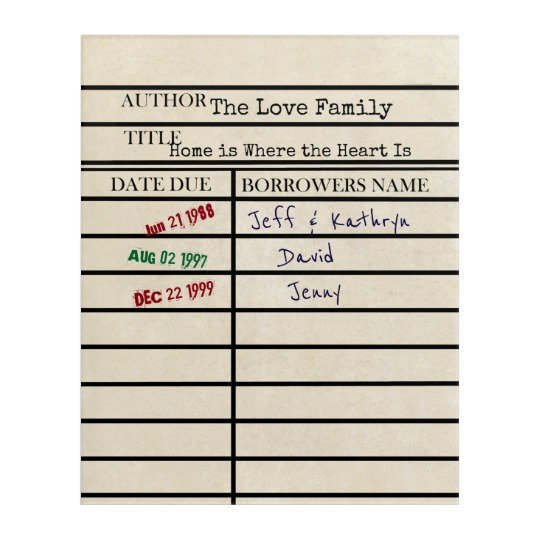 Library Due Date Card