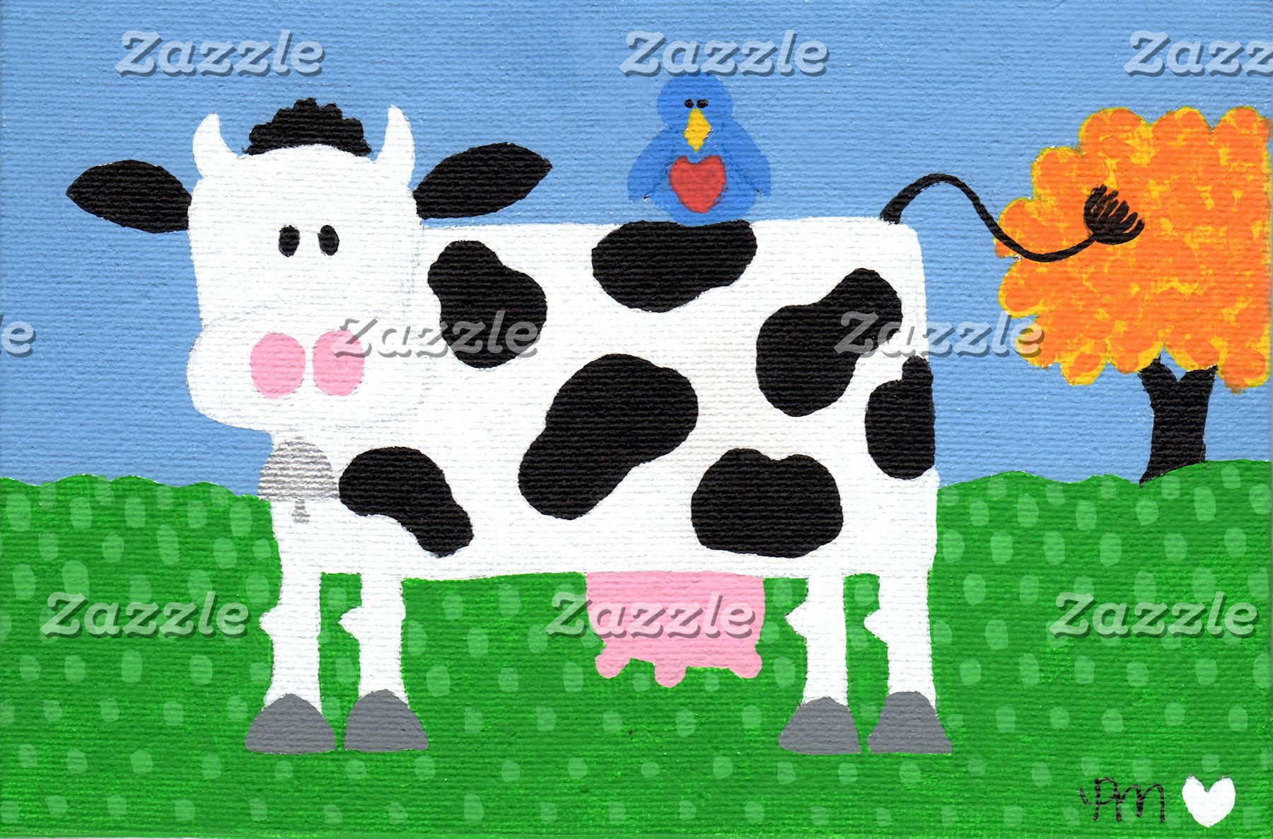 Cow and Bird are Best Friends