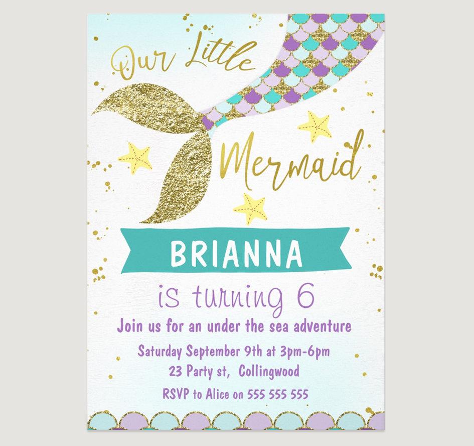 Girls Birthday Invitations