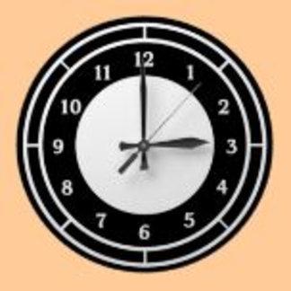 Black and White Wall Clocks