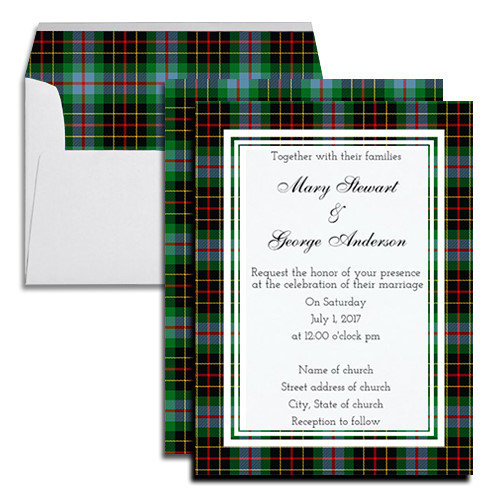 Brodie Hunting Tartan Wedding