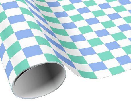 Checkered Pattern Gift Wrap