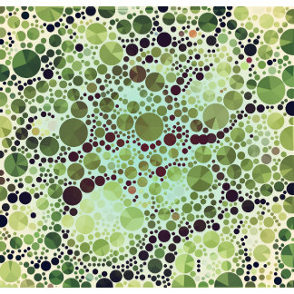 Geometric Patterns | Green Circles and Triangles