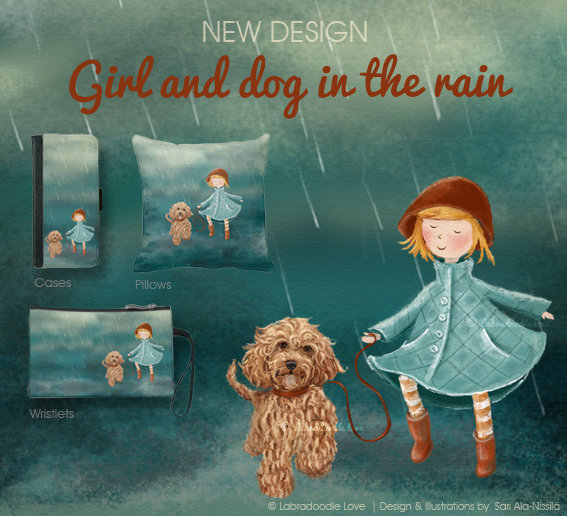 Girl and dog in the rain / © Sari Ala-Nissilä