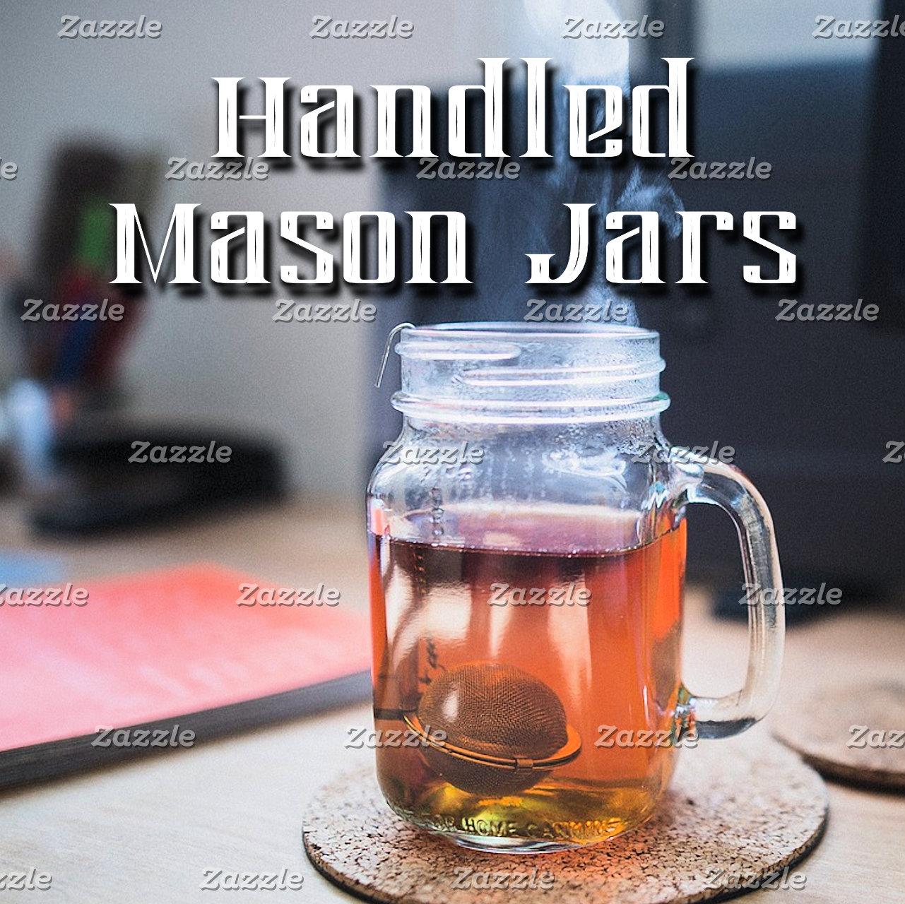 Drinkware~Handled Mason Jars