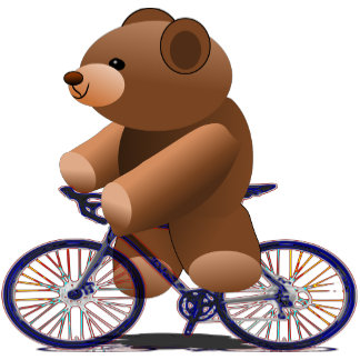 Teddy Bear Cyclist