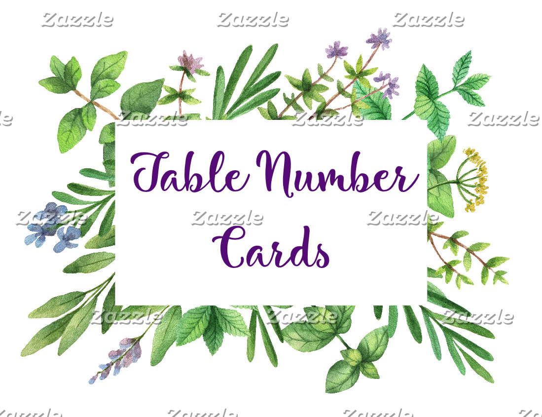 Place Cards & Table Number Cards
