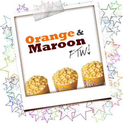 K. Maroon and Orange