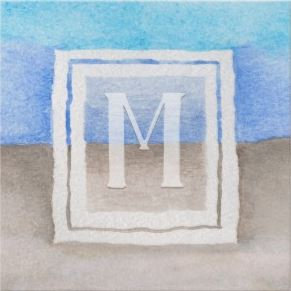 Hand-painted Watercolor Monogram Sea & Sand Beach