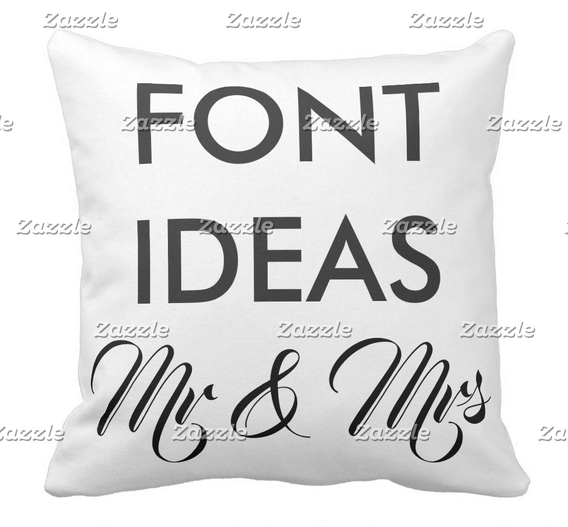 Font Ideas (showing Mr & Mrs)