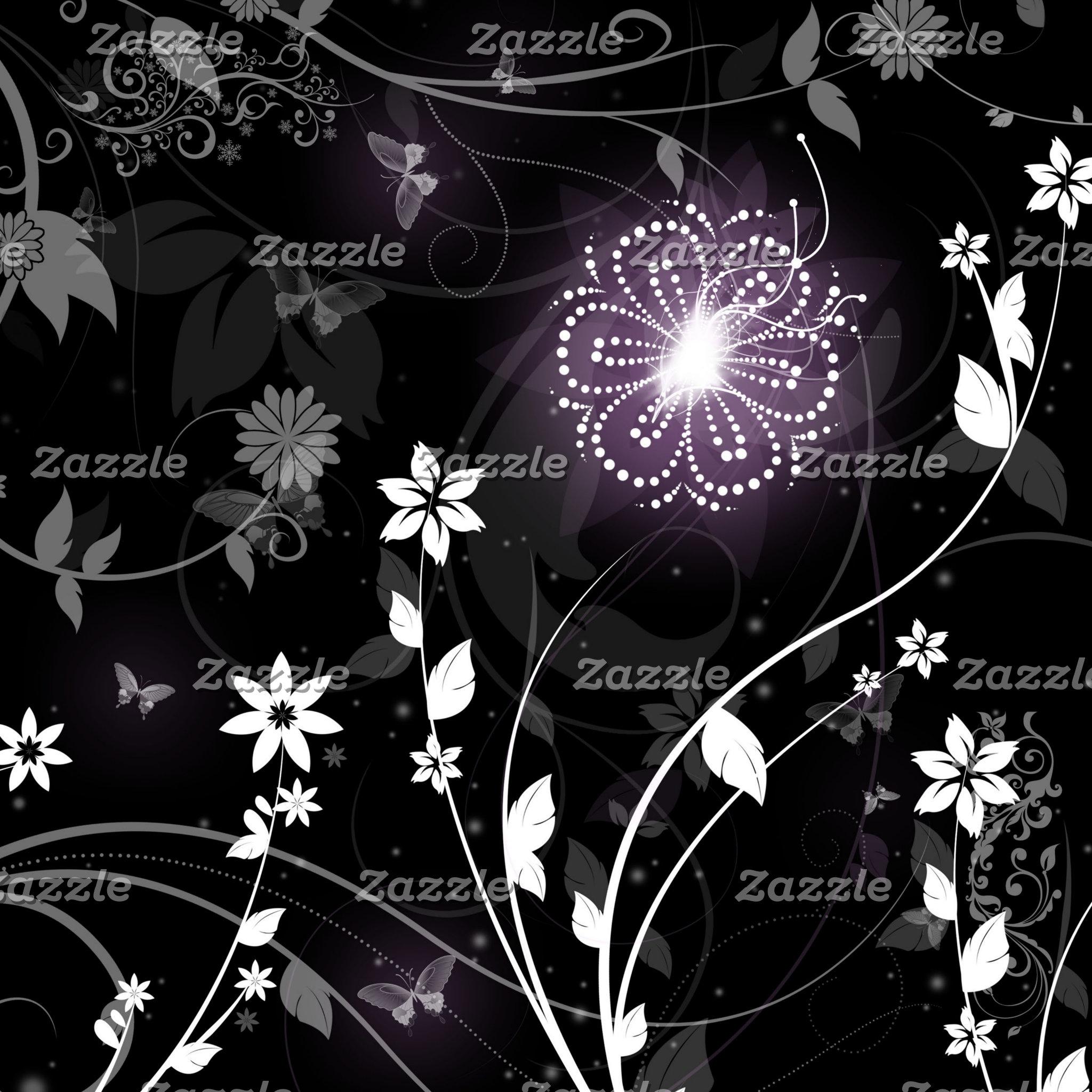 Glowing Purple Flower