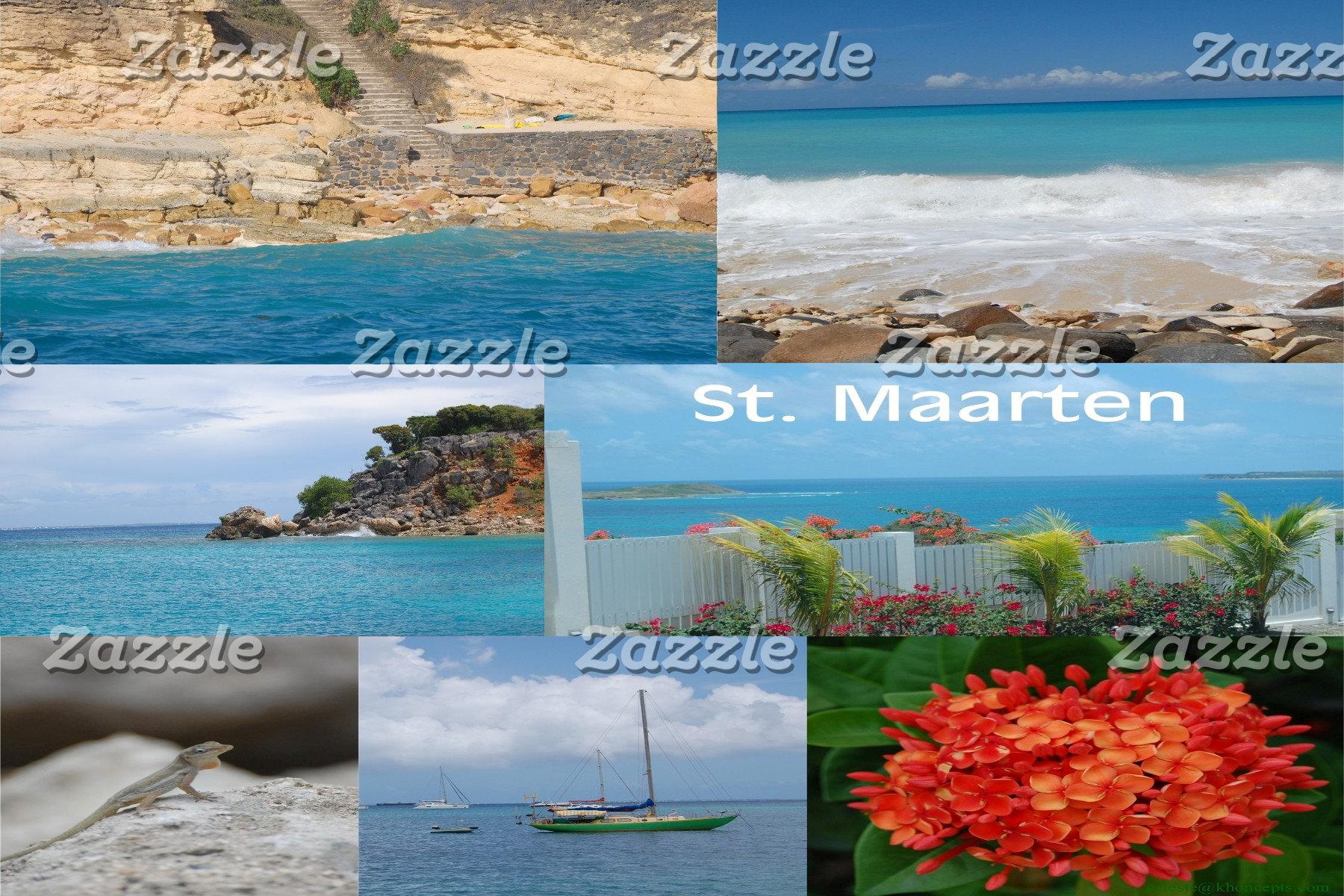 Sint Maarten - St. Martin Beach and Nature Collage