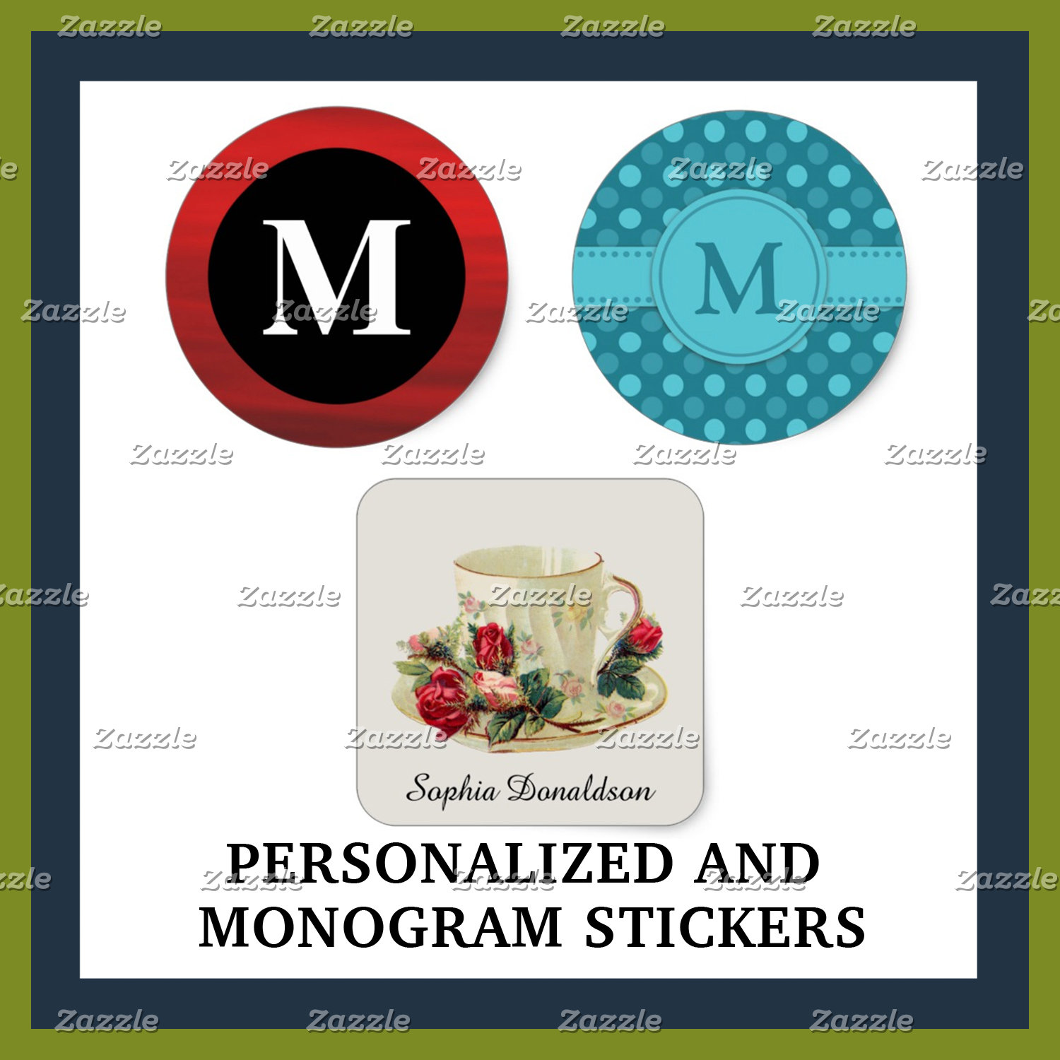 Personalized and Monogram Stickers
