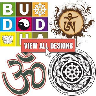 Aum Symbol, Dharma Wheel and Yin Yang Designs