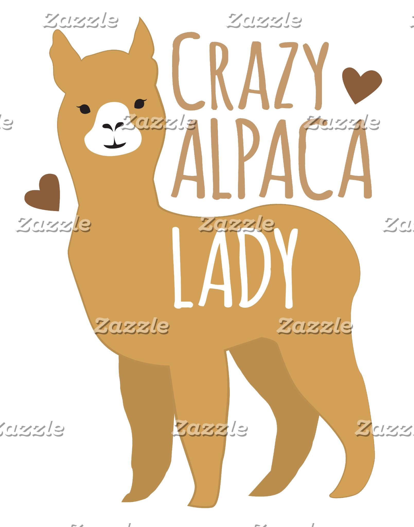 Crazy alpaca lady