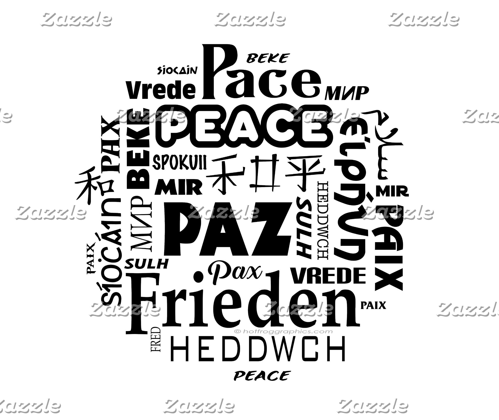 Multilingual Peace designs