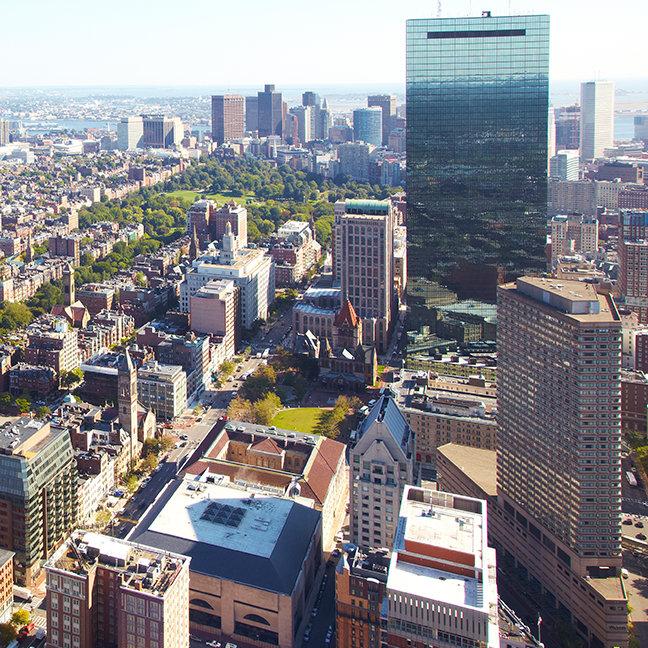 Aerial view of Boston