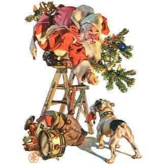 Santa Up a Ladder