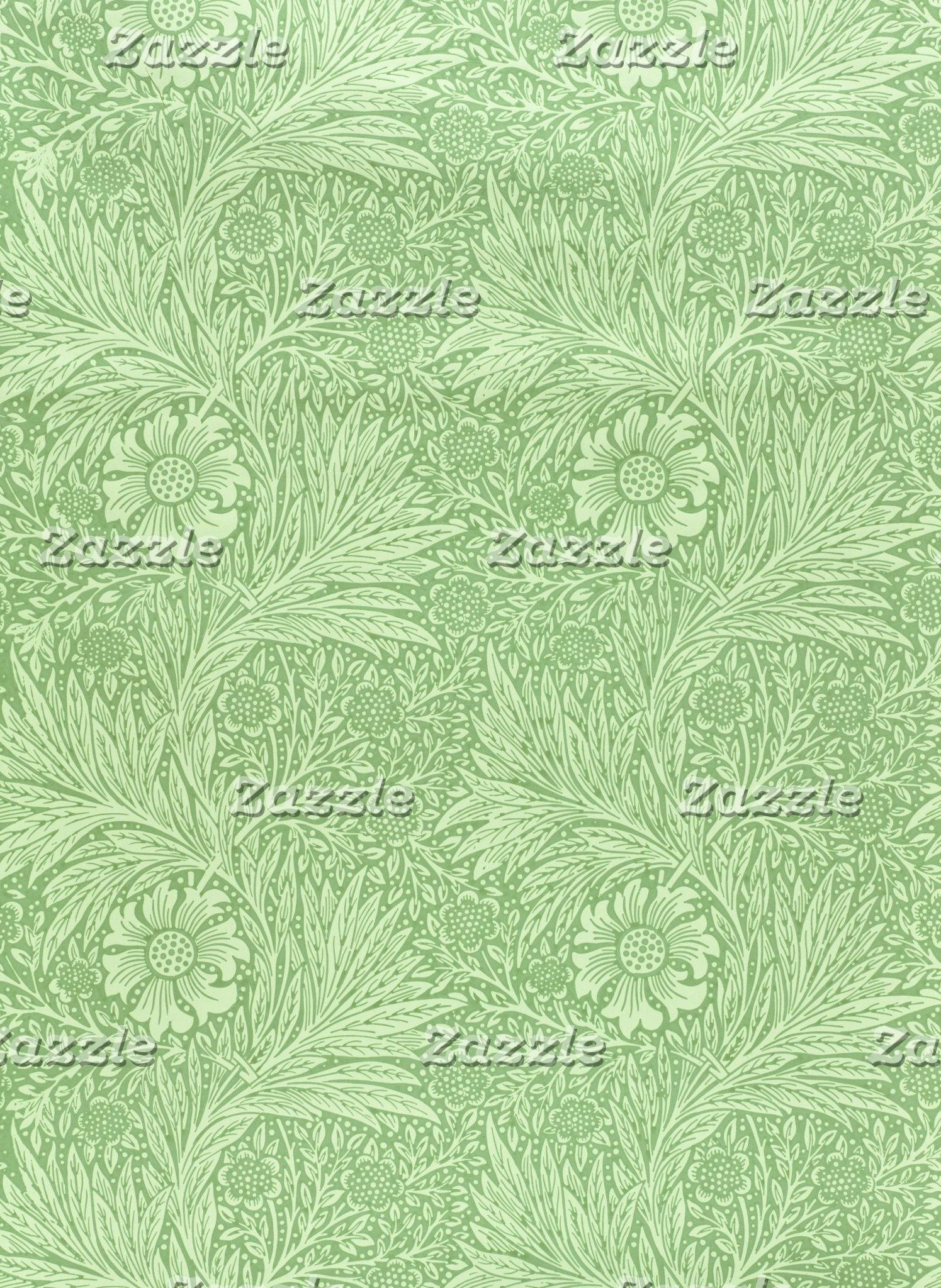 William Morris Marigold Pattern (Green)