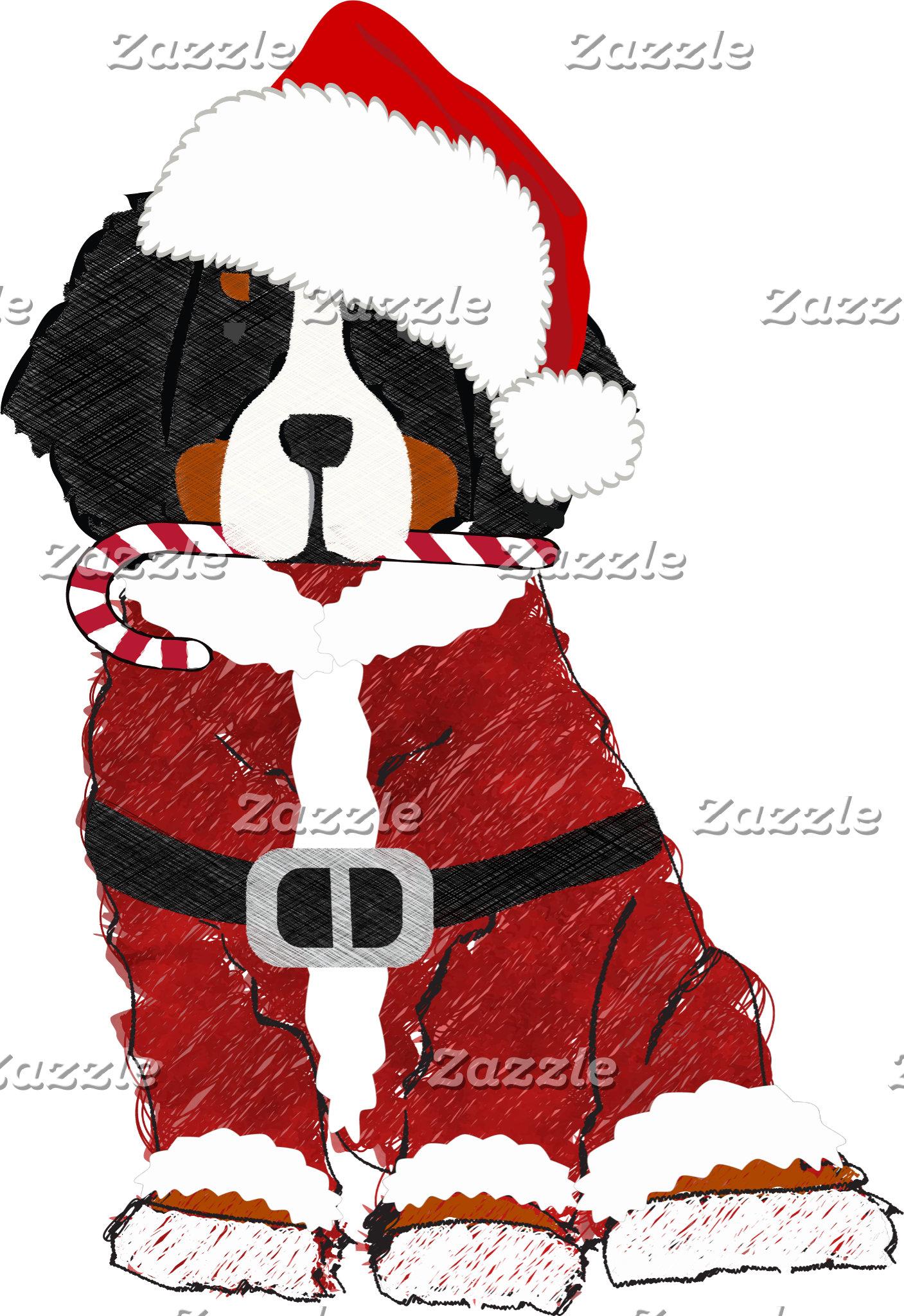 Santa Paws Bernese Mt Dog