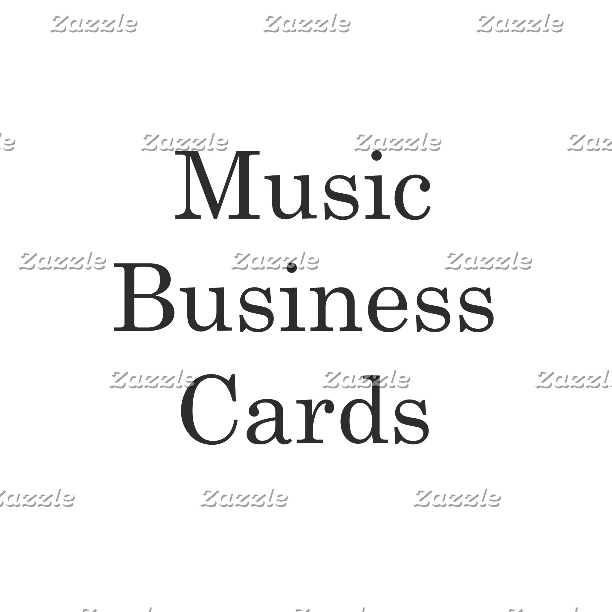 Music Business Cards