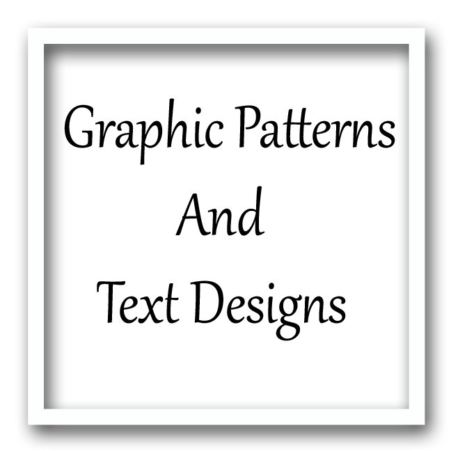 Graphic Patterns and Text Designs