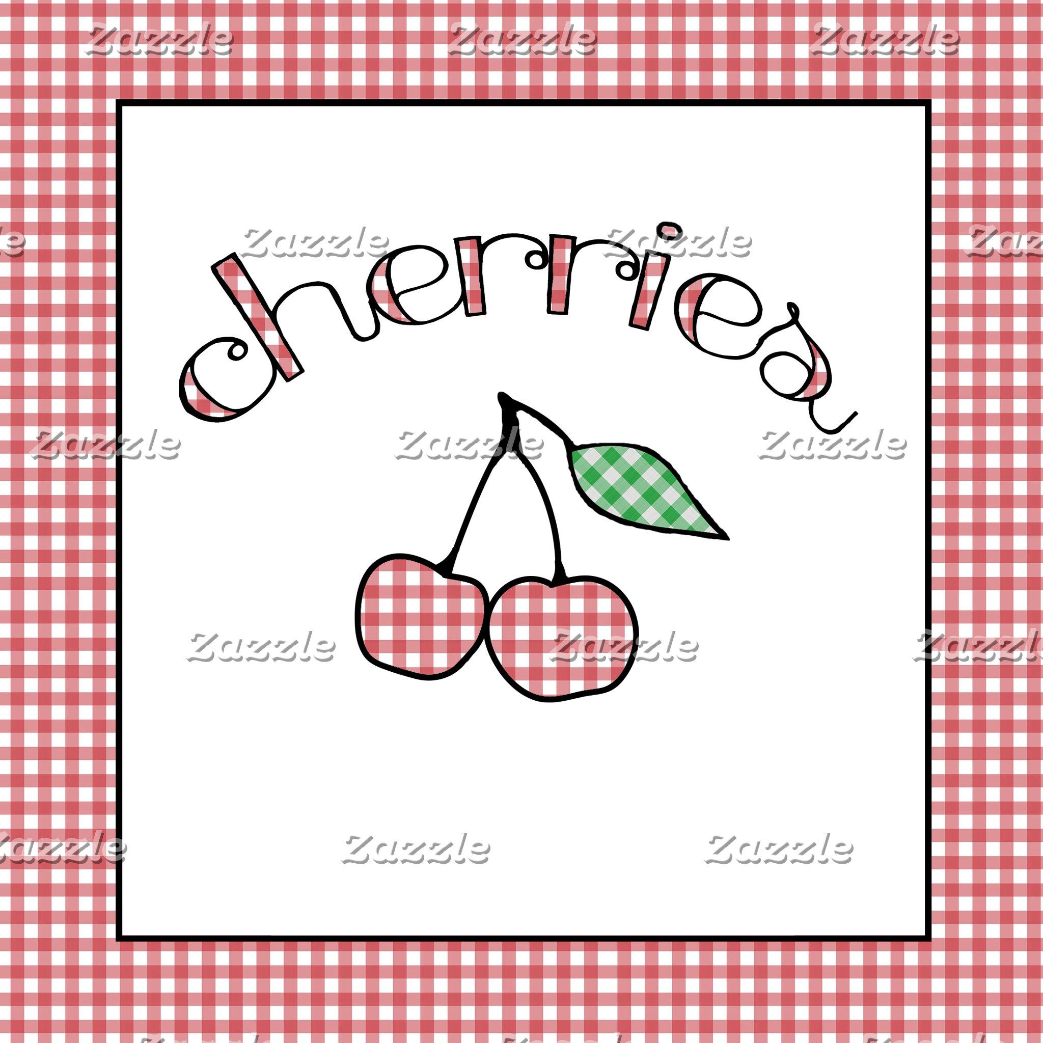 Gingham Cherries