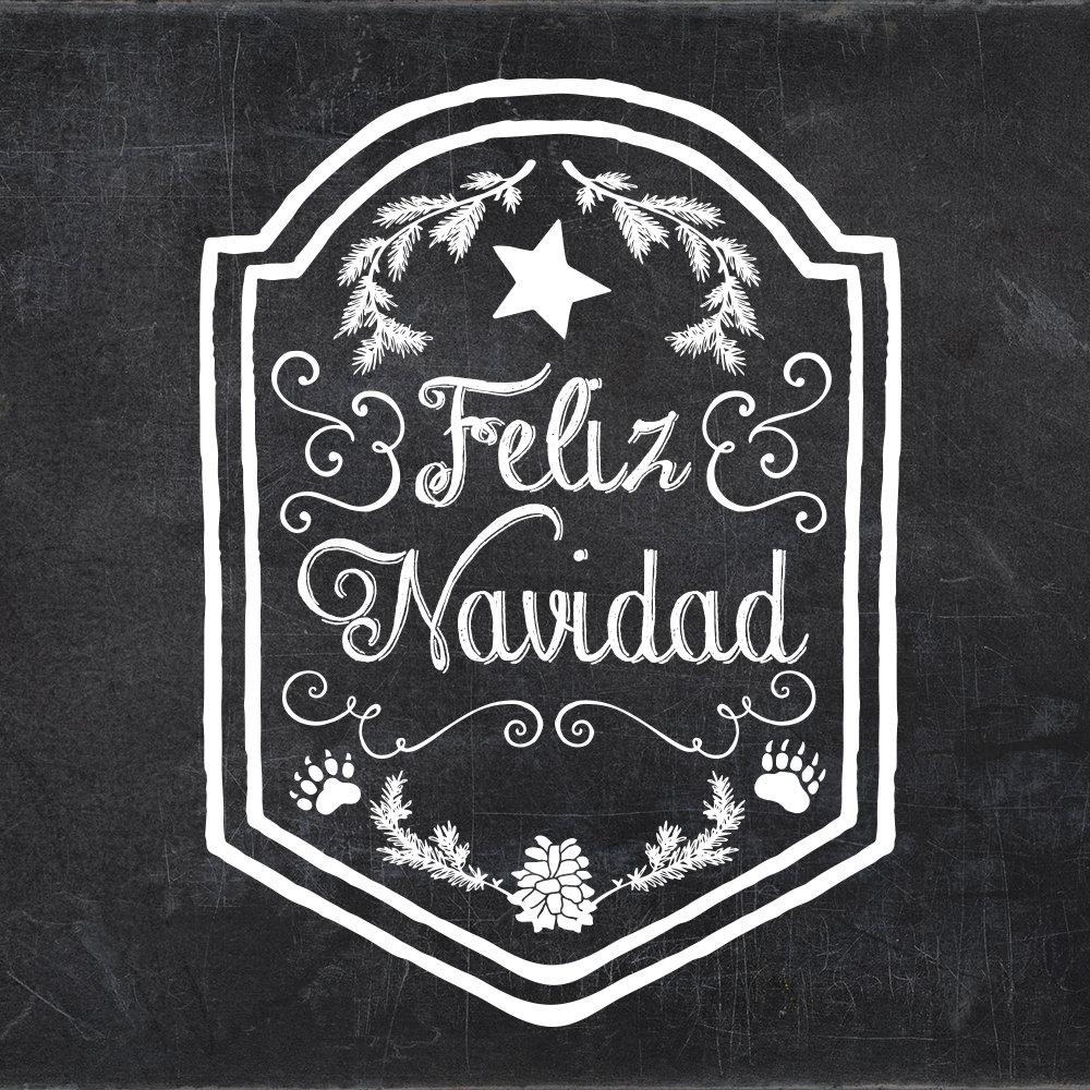 Feliz Navidad Rustic Chalkboard Typography